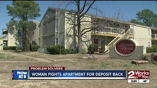 Woman fights apartment for deposit back - Video