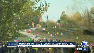 Balloons released in memory of CSU shooting victim - Video