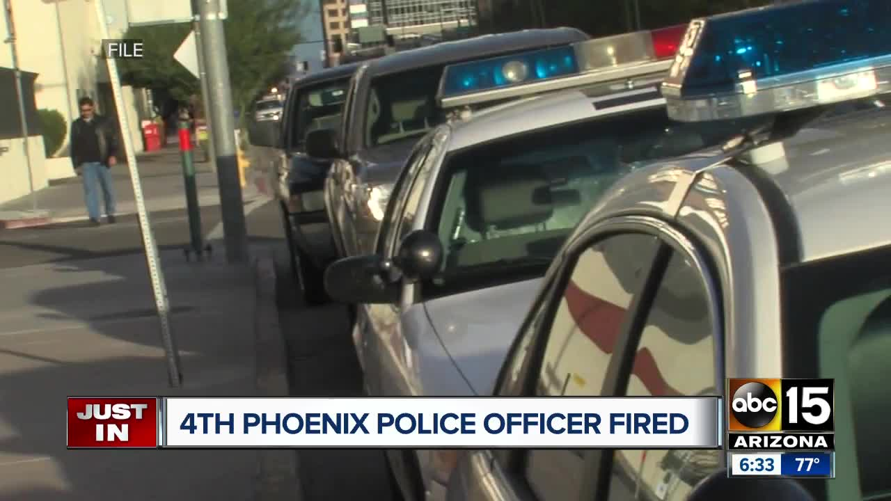 Phoenix police confirm fourth officer fired during the month of October