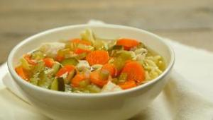Slow Cooker Hearty Chicken Noodle Soup - Video