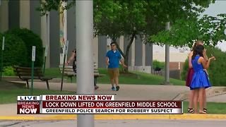 Lockdown at Greenfield Middle school