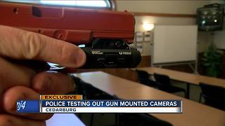 Cedarburg Police trying out cameras mounted to guns - Video