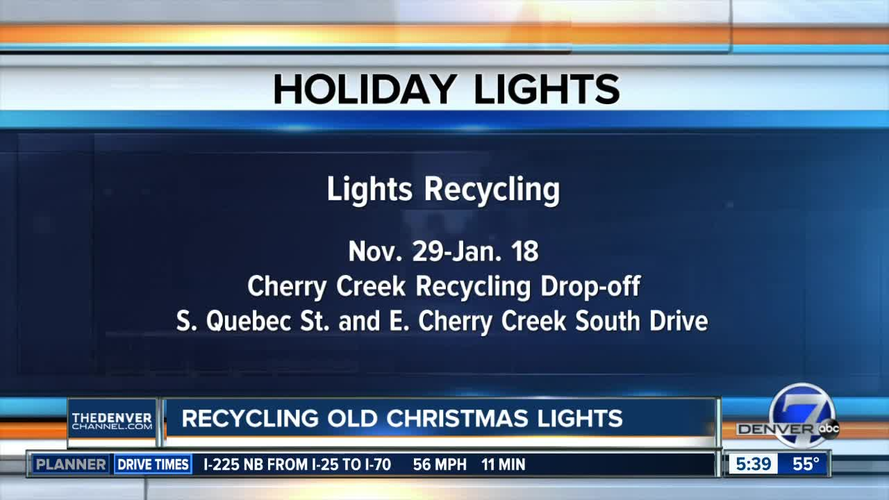 You can recycle your old Christmas lights