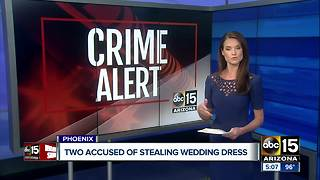 Wedding dress stolen from bag at Sky Harbor Airport - Video