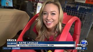 Free coffee Friday- Katie gets stuck in a cart... - Video