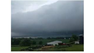 Storm Clouds, Heavy Rain Roll Over Iowa - Video