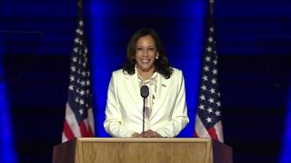 Vice President-elect Kamala Harris delivers first speech since presidential election called