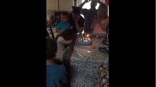 Birthday girl throws tantrum during 'Happy Birthday' song - Video
