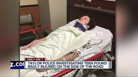 Taylor police investigating teen found badly injured on the side of the road