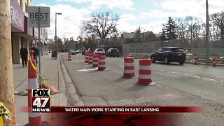 Water main replacement to close parts of East Lansing