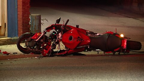 One person transported after crash