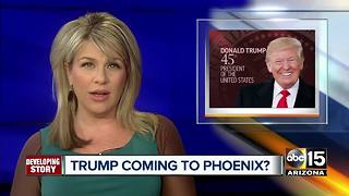 President Trump considering August 22 visit to Phoenix - Video