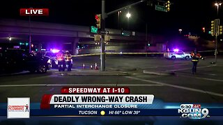Deadly wrong-way crash shuts down Speedway near I-10