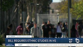 Bill would require ethnic studies in high school