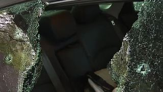 Teacher's car vandalized in a school parking lot. - Video
