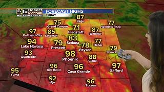 Phoenix temperatures dip below 100 degrees - Video