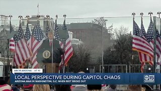 Arizona perspective during Capitol chaos