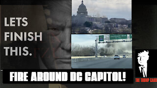 BREAKING! FIRE AROUND DC CAPITOL, SECURITY THREAT PROTOCOLS ACTIVATED.