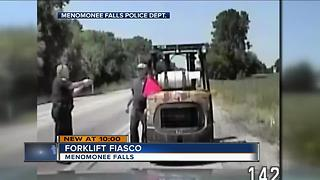Man arrested for driving forklift on Menomonee Falls roads - Video