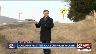 Checotah Assistant Police Chief Hurt in Crash - Video