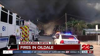 A fire in Oildale leaves home destroyed, no one was injured - Video