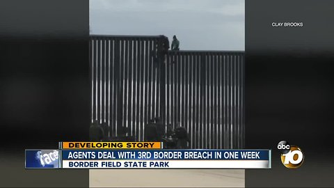Men try to climb over border fence again in Border Field State Park