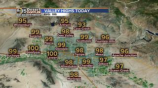 Another chance of rain in the Valley on Monday - Video