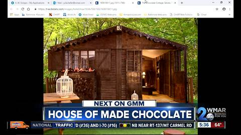 Chocolate cottage in France