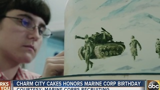 Charm City Cakes honors Marine Corps birthday on Nov. 10