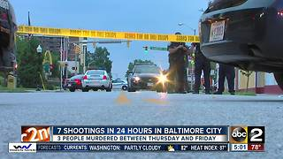 Baltimore sees 7 shootings, 3 dead in 24 hours - Video