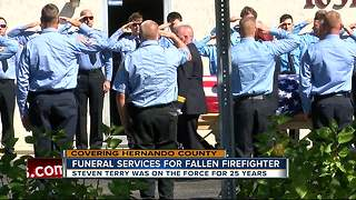Funeral services held for fallen firefighter - Video