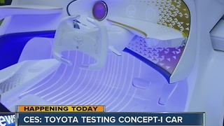 CES: Toyota testing Concept-I car - Video