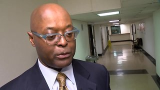 Milwaukee County Sheriff Earnell Lucas speaks about his injury