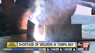 Tampa Bay area facing shortage of trained welders