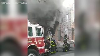 6 firefighters pulled from Baltimore house fire
