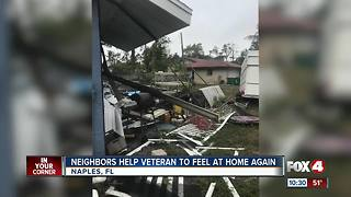 Veteran gets help with Irma debris after losing wife - Video