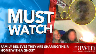 family who believe they are sharing their home with a ghost
