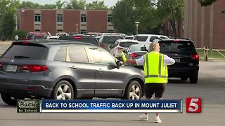Parents Sit In Back To School Traffic Backup - Video