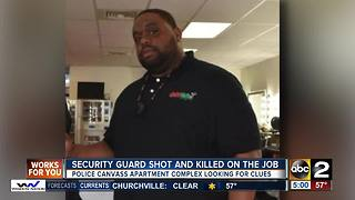 No suspects in the shooting death of a security guard - Video