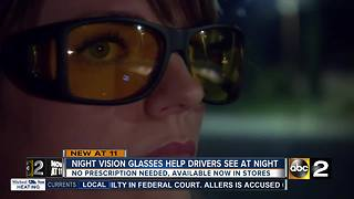 New Night Driving Glasses make driving at night easier - Video