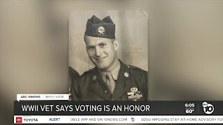 WWII veteran's fight for freedom linked to why he votes