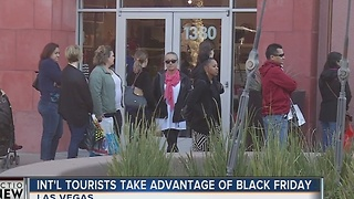 International tourists travel to Las Vegas for Black Friday deals - Video