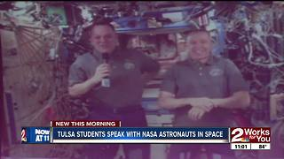 Earth-to-space call between NASA astronauts and local students - Video