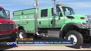 Boise fire truck manufacturer lands multi-million dollar contract with California - Video