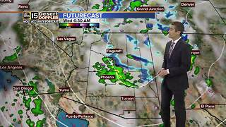 Rain expected across Arizona on Tuesday night - Video