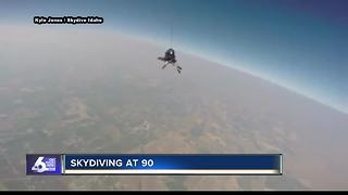 Boise man goes skydiving for 90th Birthday - Video
