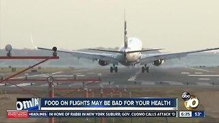 Report shows health concerns over airline food
