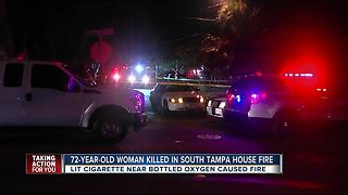 72-year-old woman killed in South Tampa house fire