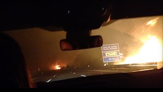 Passenger Films Escape Down Highway Through Portugal Wildfires - Video
