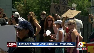 Protesters: President Trump isn't welcome in Dayton